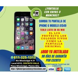 Cambio de Pantalla Completa GENERICA 100% Nueva para iPhone 6 Incluye Instalacion en 1 Hora